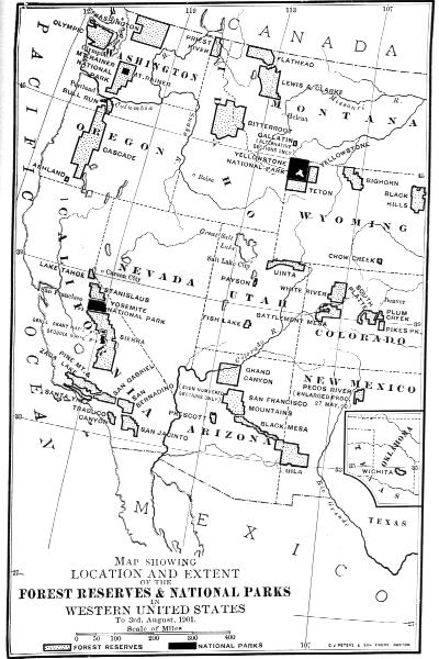 Our National Parks By John Muir C John Muir - National parks western us map