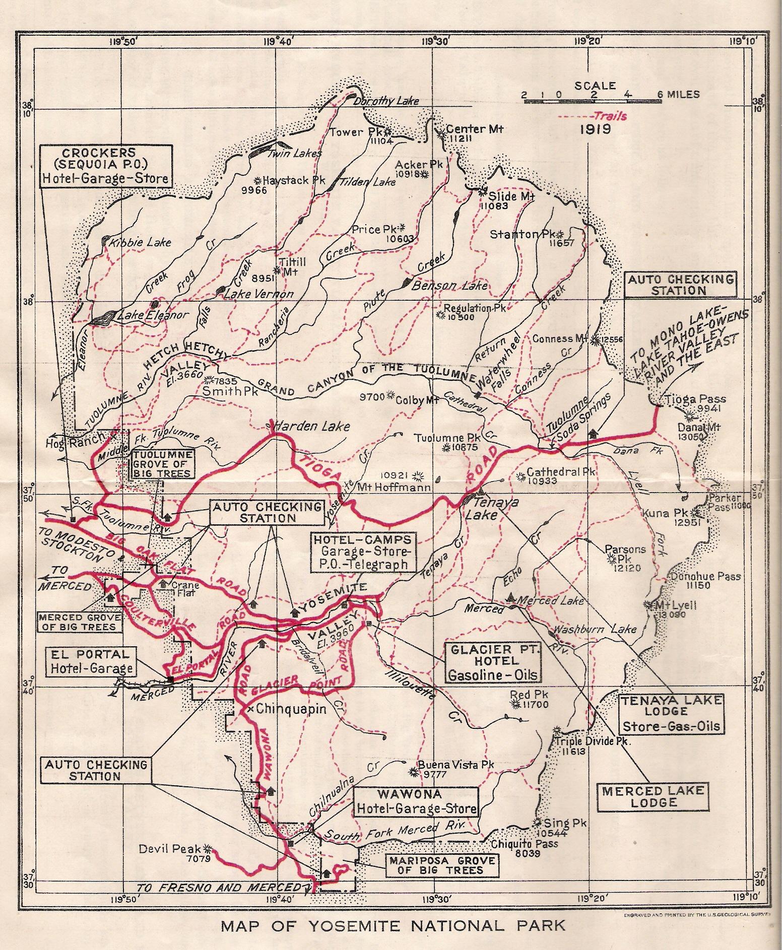 Map Of Yosemite National Park