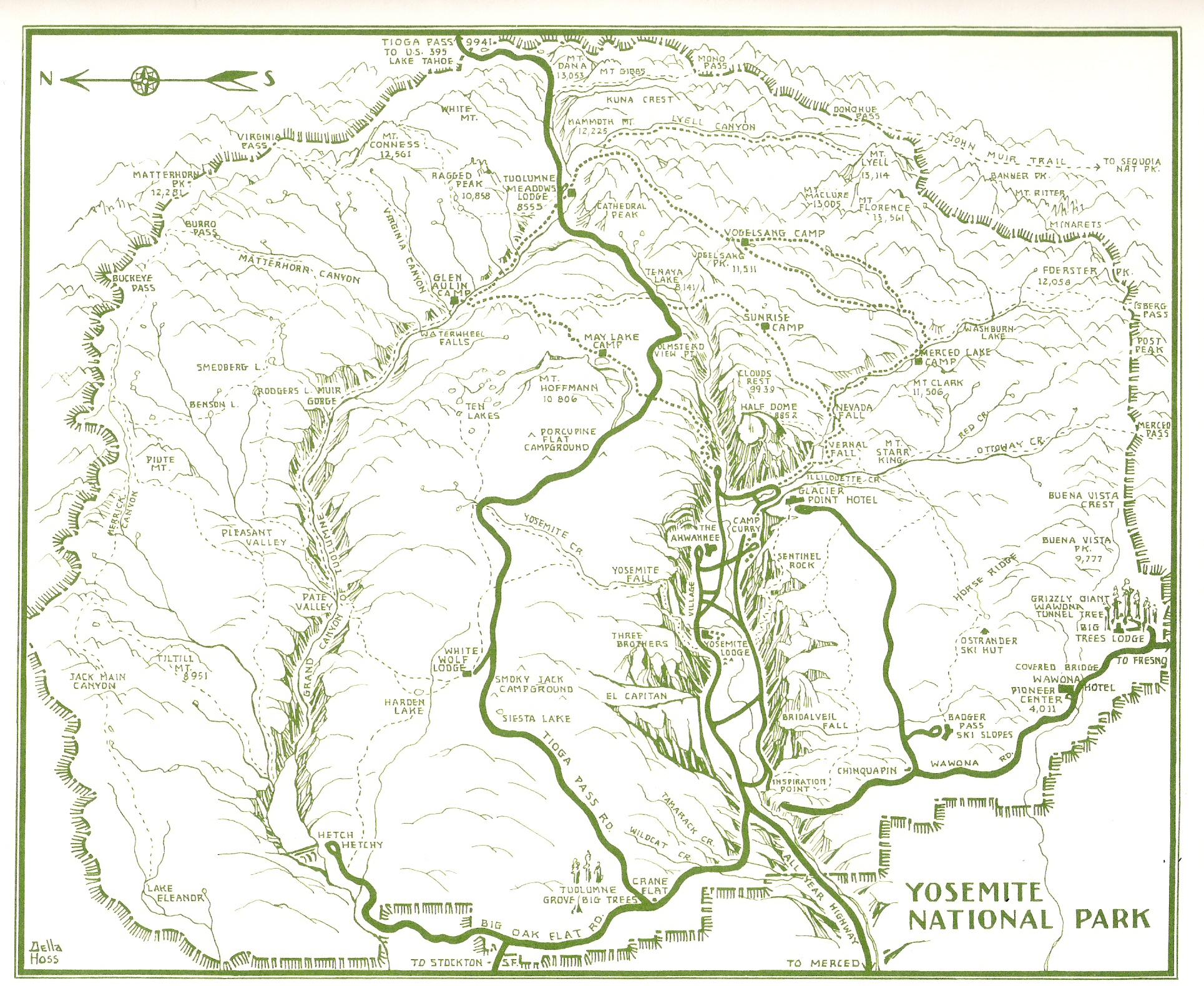 Yosemite Historic Maps (Yosemite Library Online)