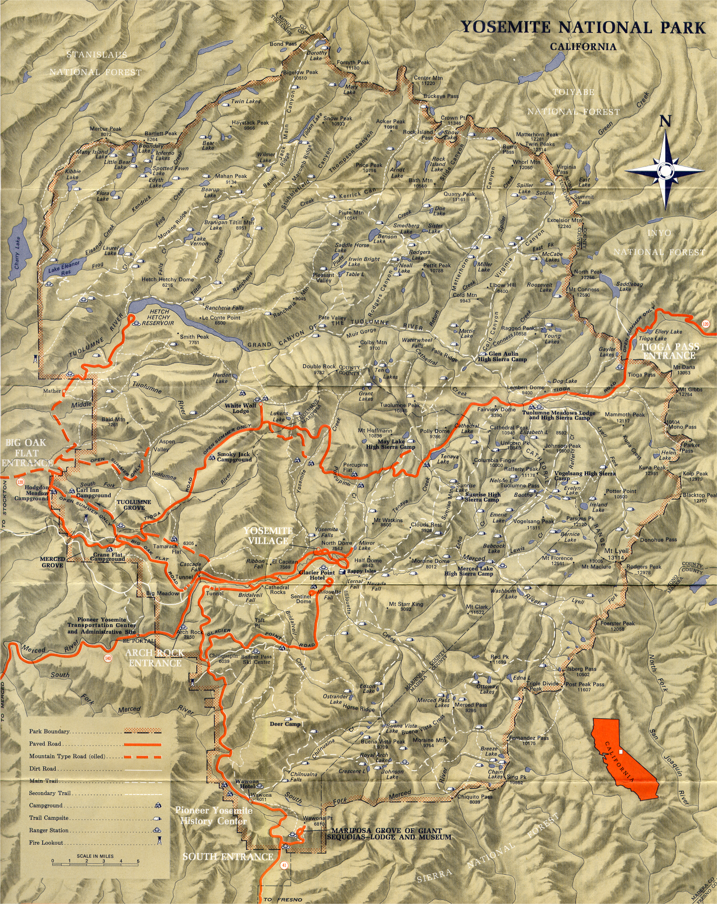 Oak Park California Map.Yosemite Historic Maps Yosemite Library Online