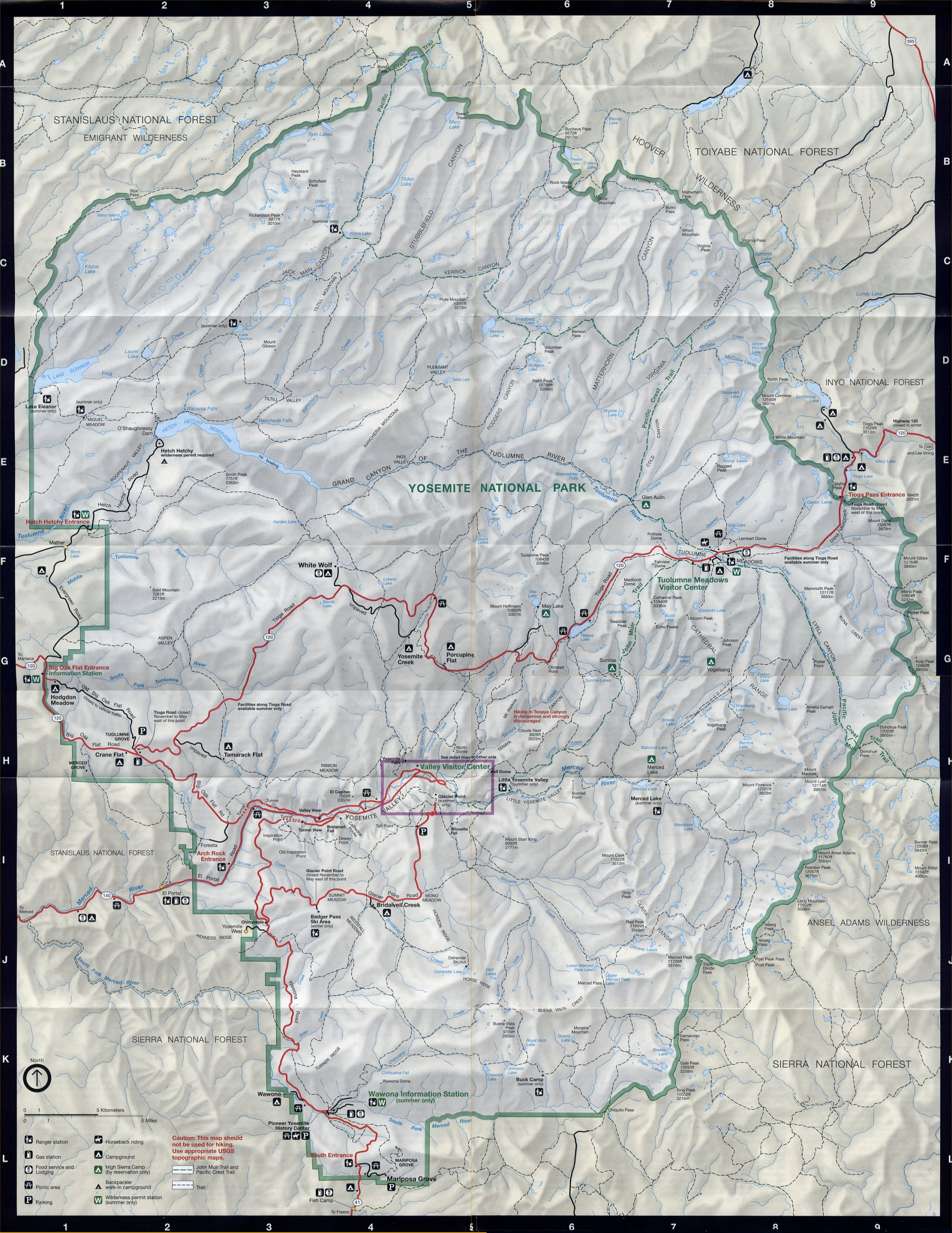 Yosemite Historic Maps Yosemite Library Online - Us national forest fire map