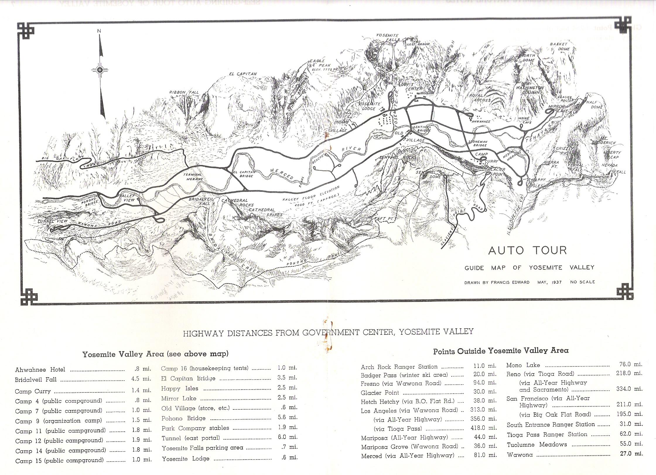 Yosemite Historic Maps Yosemite Library Online - Jo mora los angeles map