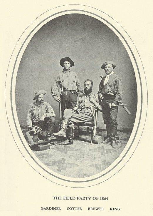 King and his fellow mountaineers in 1864