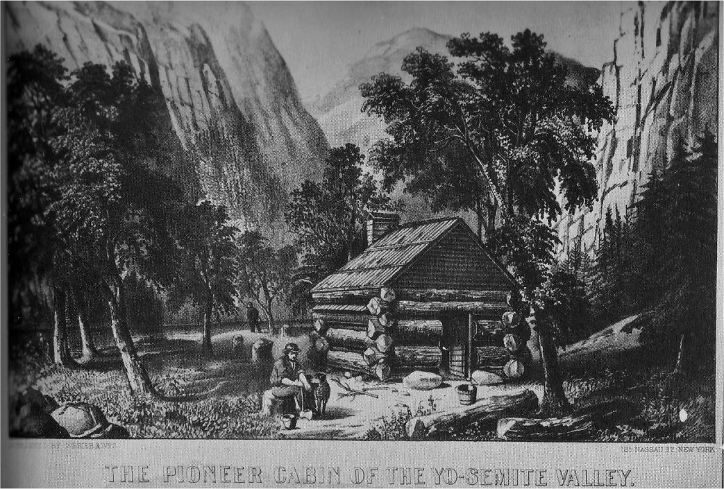 Guide to the pioneer cemetery 1959 by lloyd w brubaker for Cabins in yosemite valley