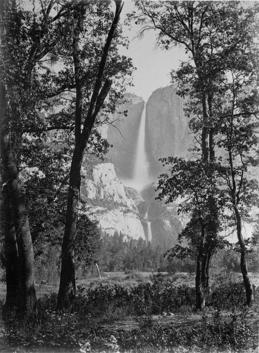 The Yosemite Falls by Carleton E. Watkins, circa 1865-1866 from The Yosemite Book (1869)