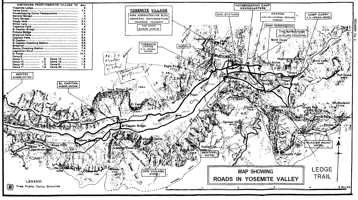 Yosemite the Park and its Resources 1987 Chapter V National – Yosemite Tourist Map