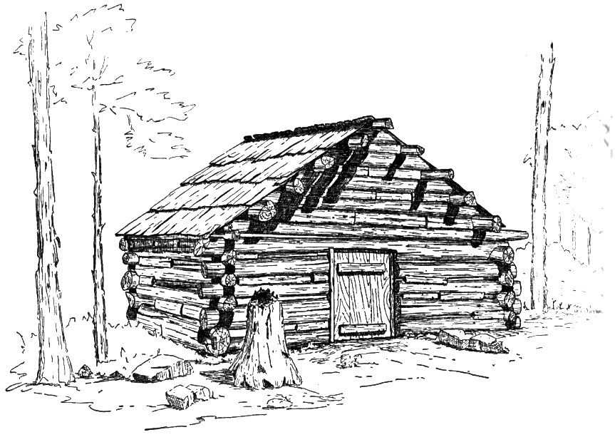 Yosemite 39 s pioneer cabins 1951 by robert f uhte Cabin drawings