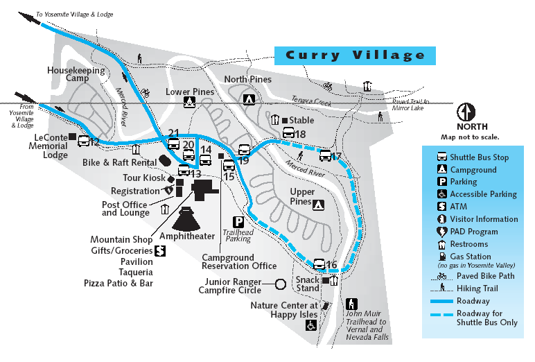 Curry Village Area Housekeeping Camp Map
