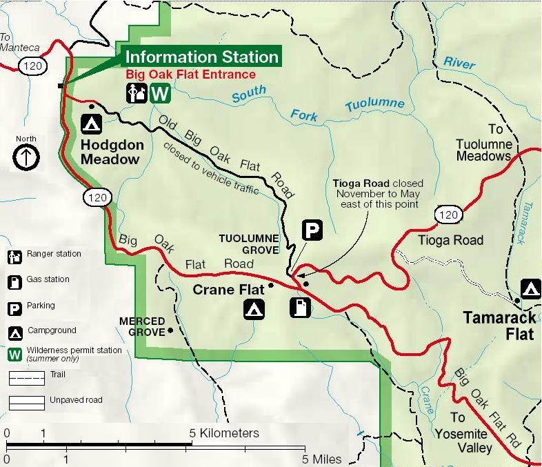 Yosemite National Park Tioga Road Tuolumne Meadows And High - Yosemite national park on us map