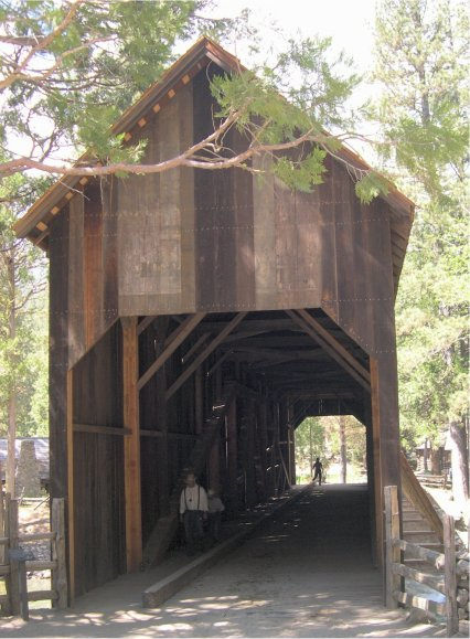 Pioneer Yosemite History Center Online Tour Covered Bridge