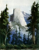Half Dome from Washburn Point Area. Watercolor by Christian Jorgensen.